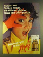 1980 Max Factor Maxi-Soft Eye Color Pencils Ad