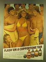 1980 Coppertone Ad - Dark Tanning Oil, Suntan Lotion