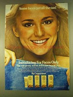 1980 Coppertone For Faces Only Suntan Lotion Ad