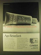 1980 Clinique 8 SPF Sun Block Ad - Age-Retardant