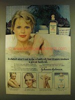 1980 Johnson & Johnson Baby Oil Ad - Didn't Start Out