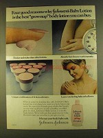 1980 Johnson's Baby Lotion Ad - Gest Grownup
