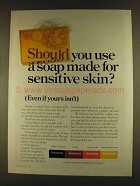 1980 Neutrogena Soap Ad - Made for Sensitive Skin