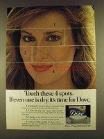 1980 Dove Soap Ad - Touch These 4 Spots