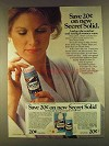 1980 Secret Solid Anti-Perspirant Ad - Save