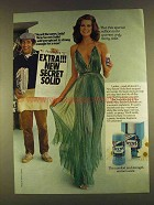 1980 Secret Solid Anti-Perspirant Ad - Heard the News?