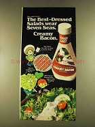 1980 Seven Seas Creamy Bacon Dressing Ad