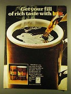 1980 Brim Decaffeinated Coffee Ad - Get Your Fill