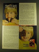 1980 Duncan Hines Brownie Mix Ad - They're So Moist
