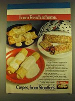 1980 Stouffer's Crepes Ad - Learn French At Home