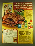 1980 Pam Vegetable Spray & McCormick Spices Ad