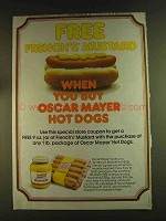 1980 Oscar Mayer Hot Dogs & French's Mustard Ad