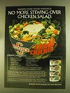 1980 Swanson Chicken Ad - Country Garden Salad recipe