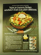 1980 Swanson Chicken Ad - The Anytime Sandwich salad