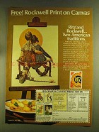 1980 Nabisco Ritz Crackers Ad - Rockwell Print