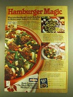 1980 Birds Eye Frozen Vegetables Ad - Hamburger