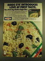 1980 Birds Eye Italian Style Rice Ad - Love First Taste