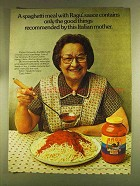 1980 Ragu Spaghetti Sauce Ad - Recommended by Mother