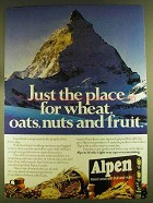 1980 Alpen Cereal Ad - Just the Place for Wheat, Oats