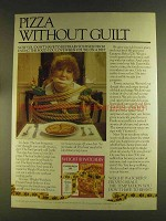 1980 Weight Watchers Frozen Meals Ad - Pizza Guilt