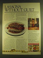 1980 Weight Watchers Frozen Meals Ad - Lasagna Guilt