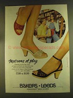 1980 Bakers Leeds Macrame Shoes Ad - Macrame At Play