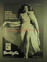 1980 Burlington So Soft, So Sheer Support Pantyhose Ad