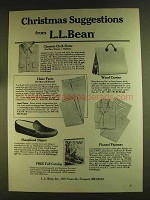 1980 L.L. Bean Ad - Chamois Cloth Shirts, Chino Pants