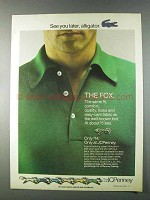 1980 JCPenney Fox Shirt Ad - See You Later, Alligator