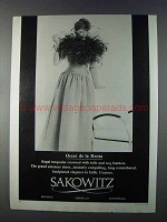 1980 Sakowitz Oscar de la Renta Dress Fashion Ad