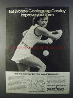 1980 Formfit Rogers Racquet Bra Ad - Evonne Cawley