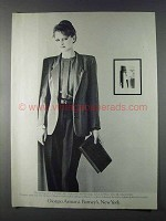 1980 Giorgio Armani Jacket, Blouse and Trousers Ad