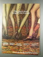 1980 Givenchy Pantyhose Ad - Les Fleurs, 500 G