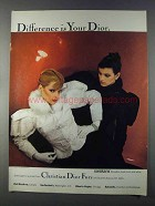 1980 Christian Dior Swakara Furs Ad - Difference