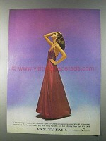 1980 Vanity Fair Lace-Topped Gown Ad