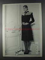 1980 Valentino Boutique Lace on Wool Cashmere Dress Ad