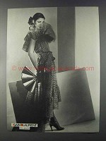 1980 Saint Laurent Women's Fashion Advertisement