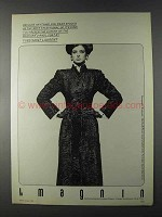 1980 Yves Saint Laurent Swakara Dirndl Fur Coat Ad
