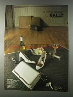 1980 Bally Shoes and Handbags Ad - A New Beginning