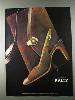 1980 Bally Shoes and Handbags Ad
