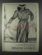 1980 Bergdorf Goodman Krizia Pin Striped Gabardine Ad