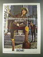 1980 Acme Boots Ad - All Women Have Horses