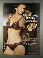 1980 Lily of France French Connection Bra & Panties Ad
