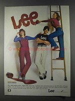1980 Lee Night Shift Bibs and Painter Pants Workwear Ad