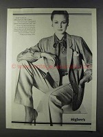 1980 Higbee's Anne Klein Donna Karan Fashion Ad