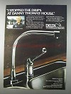 1980 Delta Washerless Faucets Ad - Waterfall Model 172