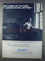 1980 Sperry Corporation Ad - The Point of Talking