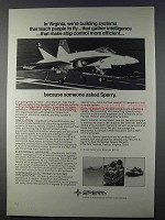 1980 Sperry Defense Systems Ad - Teach People to Fly