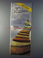 1980 Sears Soft Shadows Carpet Ad - At Your Feet