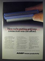 1980 AMP Electrical Connectors Ad - Putting Gold